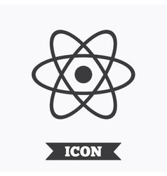 Atom sign icon atom part symbol vector