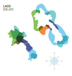 Abstract color map of Laos vector image