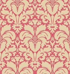 Baroque style damask background vector image vector image