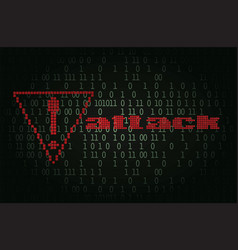 Computer hacker attack notification vector