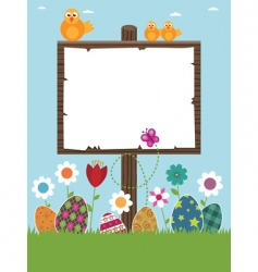 Easter sign post vector image