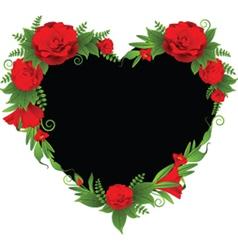 Flower border frame vector image vector image
