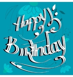flowers birthday card vector image vector image