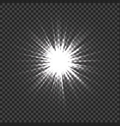 glowing light effects with transparency light vector image