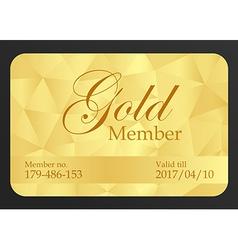 Gold member card vector