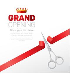 Grand opening template - modern vector