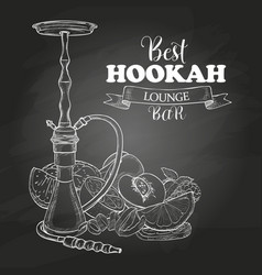 Hand drawn hookah vector