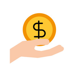 hand holding dollar money cash safety business vector image