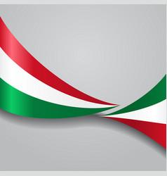 hungarian wavy flag vector image
