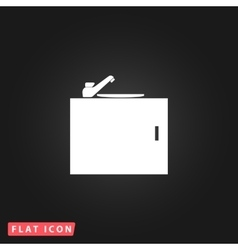 Kitchenware sink basin icon vector