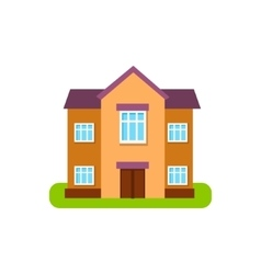 Large Two Storey Suburban House Exterior Design vector image vector image
