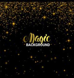 magic golden light effect shiny star burst vector image vector image