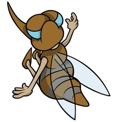 Mosquito sitting back vector
