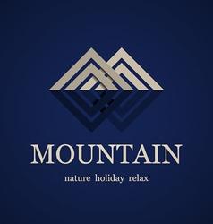 mountain symbol design template vector image vector image