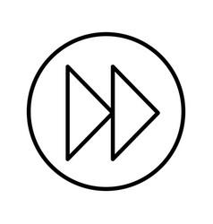 Next button media menu vector