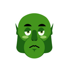ogre sad emoji goblin sorrowful emotion isolated vector image vector image