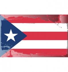 Puerto rico national flag vector