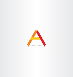 red yellow orange letter a logo icon vector image vector image