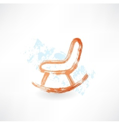 Rocking chair grunge icon vector