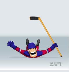 Russian ice hockey player vector
