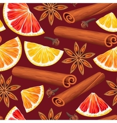 Seamless orange and spices vector image vector image