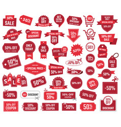 special offer 50 percent sale banners and coupons vector image vector image