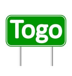 Togo road sign vector