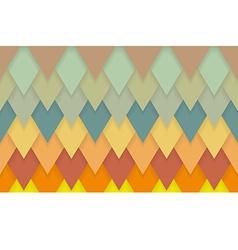 Triangle chevrons art deco pattern background vector image