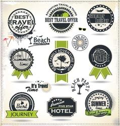 Vintage summer labels vector image vector image