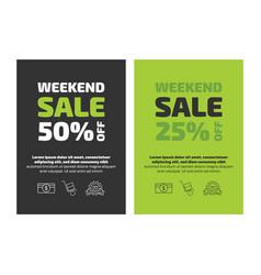 Weekend sale flayer template vector