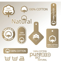 Natural cotton labels vector