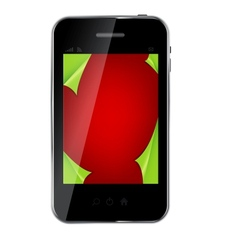 Abstract design mobile phone with christmas vector