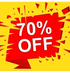 Big sale poster with 70 PERCENT OFF text vector image