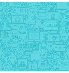 Blue Coding Line Tile Pattern vector image