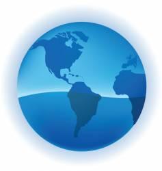 growing globe vector image