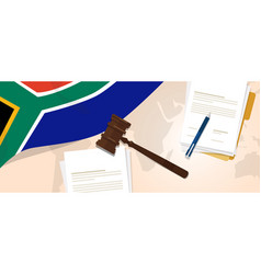 South africa law constitution legal judgment vector