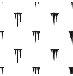 icicles icon in black style isolated on white vector image