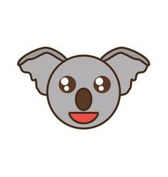 cute koala face kawaii style vector image