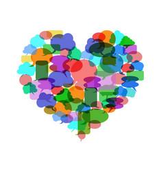 Colorful speech bubble heart vector