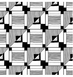 Abstract seamless pattern black and white vector