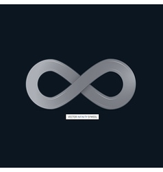Abstract infinity symbol on dark background vector