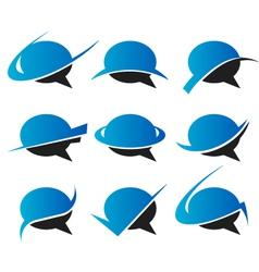 Speech bubble Logo Icons vector image