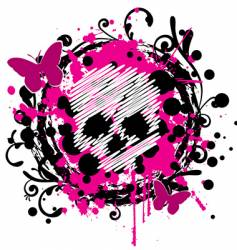 Grungy skull vector