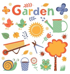 Colorful garden vector image