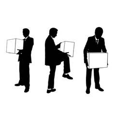 Businessmen with boxes vector
