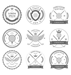 Golf labels and icons set vector image