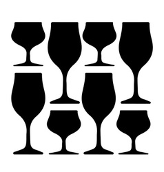 Alcoholic glass silhouette vector