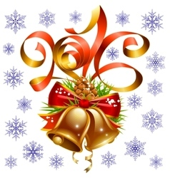 Christmas and New Year 2016 set vector image