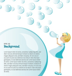 Background bubbles vector
