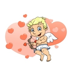 Little cupid flying 4 vector